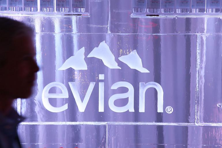 Le logo de la marque d'eau minérale Evian (illustration)