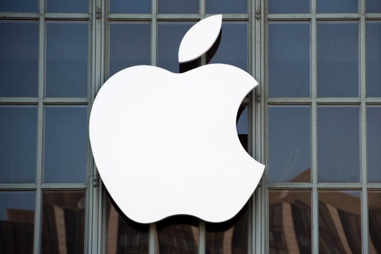 Un logo d'Apple à San Francisco (Ilustration)