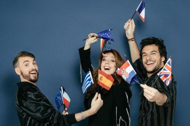 """Christophe Willem, juré aux côtés d'Isabelle Boulay et Amir dans """"Destination Eurovision"""" sur France 2"""