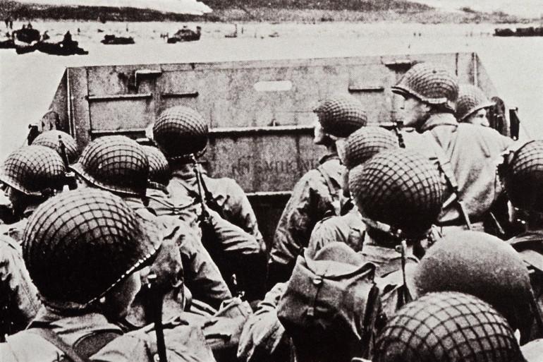 Des soldats américains lors du Débarquement de Normandie