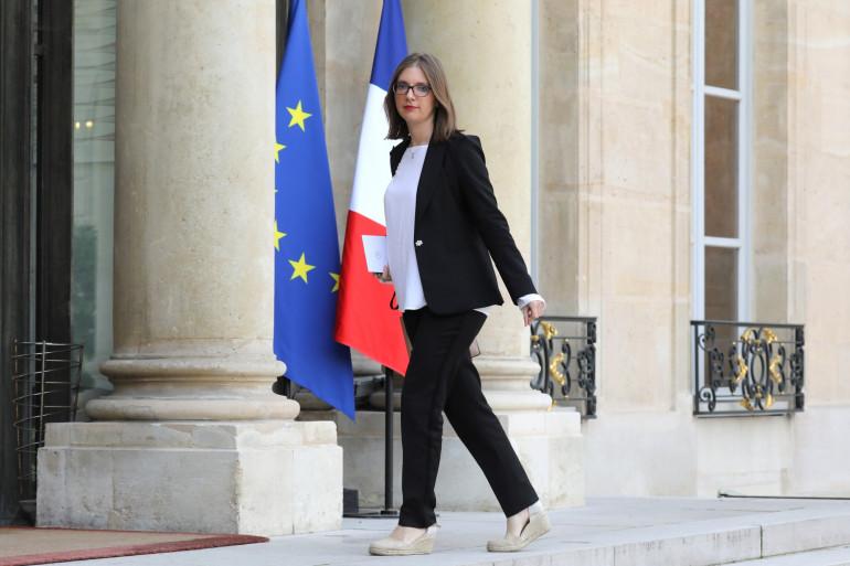Aurore Bergé sur le perron de l'Élysée, le 17 octobre 2017