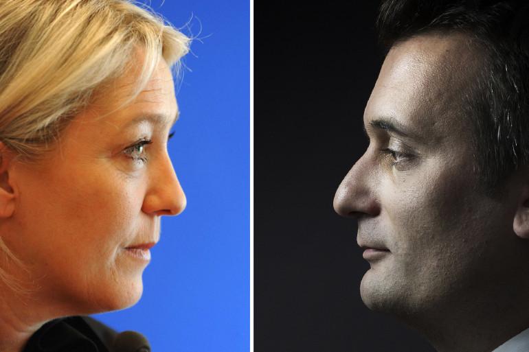 Marine Le Pen et Florian Philippot.
