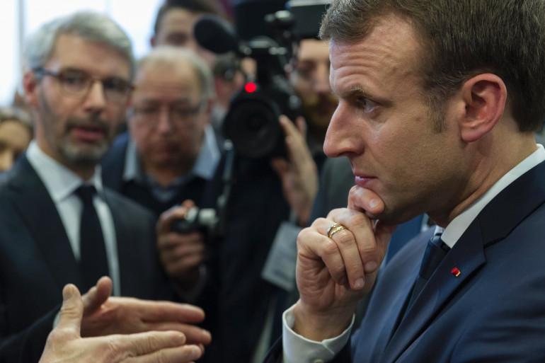 Emmanuel Macron en Auvergne, le 25 janvier 2018