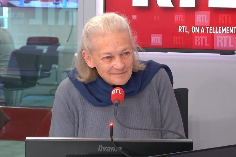 Élisabeth Badinter, dans les studios de RTL, le 10 décembre 2019