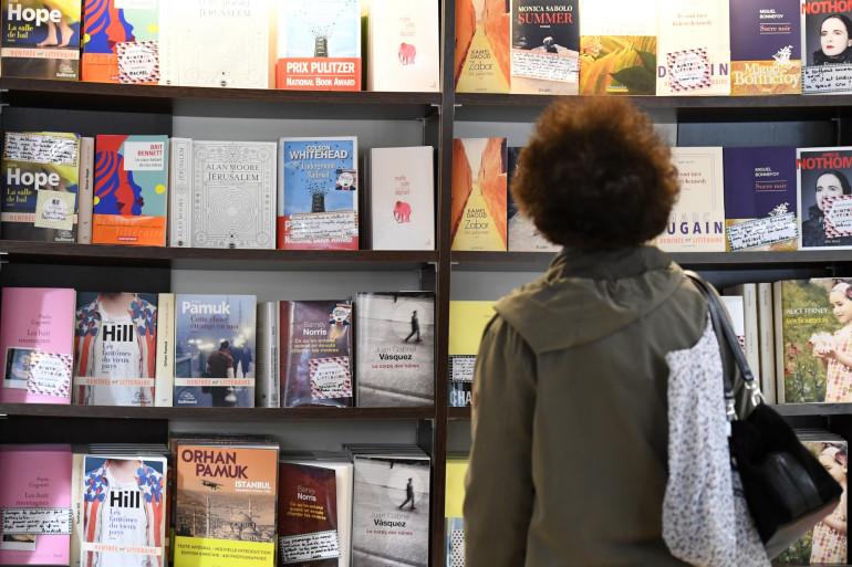 Une librairie en France (illustration)