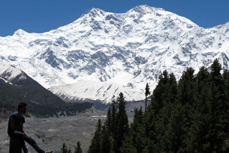 Le Nanga Parbat, sommet de l'Himalaya situé dans la partie pakistanaise.