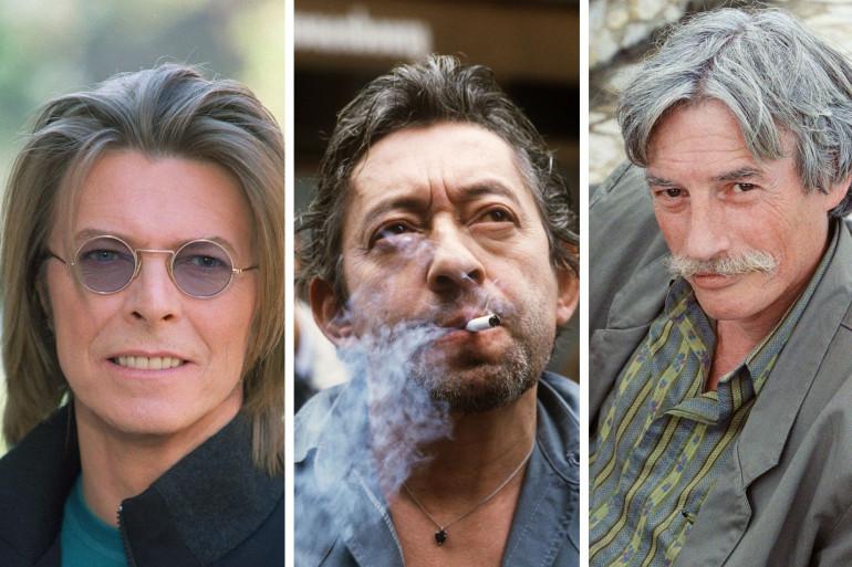 David Bowie, Serge Gainsbourg et Jean Ferrat sont dans la sélection des beaux livres à offrir