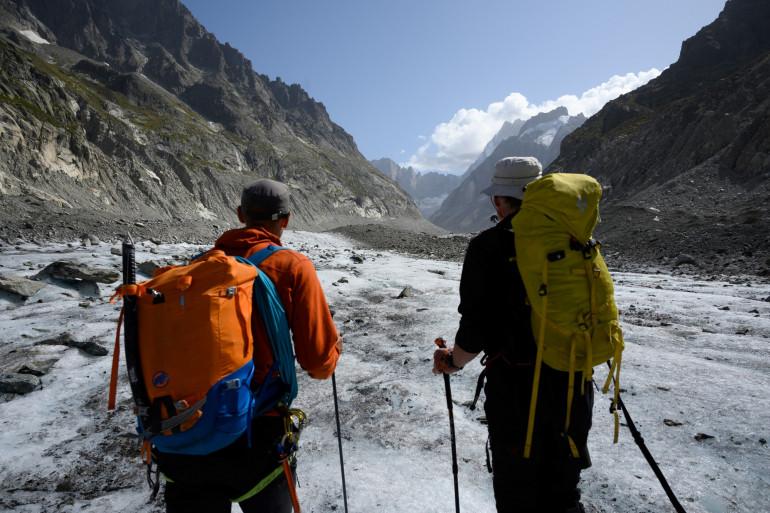 Deux alpinistes à Chamonix
