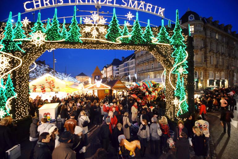 Le marché de Noël de Strasbourg (illustration)