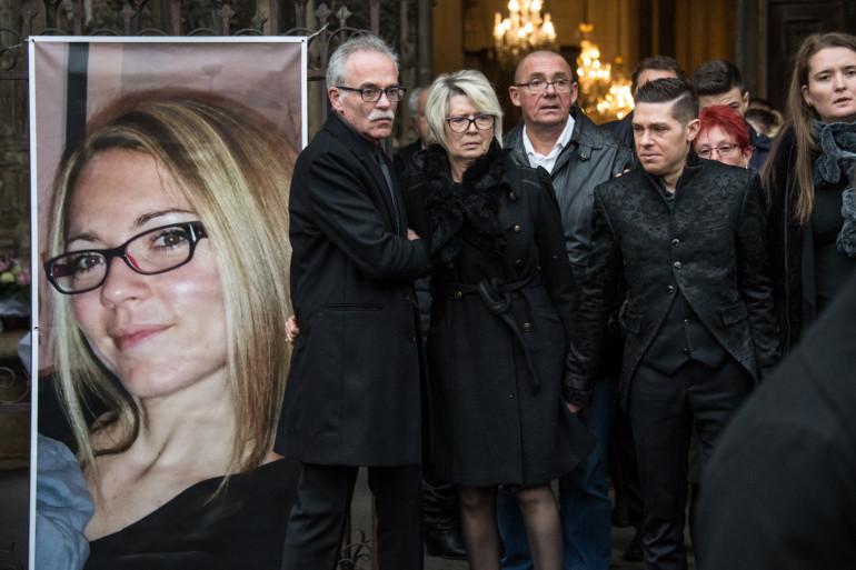 Jonathann Daval aux funérailles de son épouse, Alexia, le 8 novembre 2017, à Gray