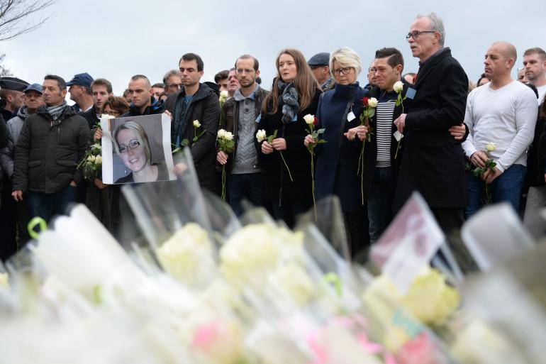 Les proches d'Alexia Daval réunis le 5 novembre lors d'une marche blanche