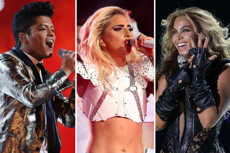 Bruno Mars, Lady Gaga, Beyoncé... ils ont enflammé le show du Super Bowl