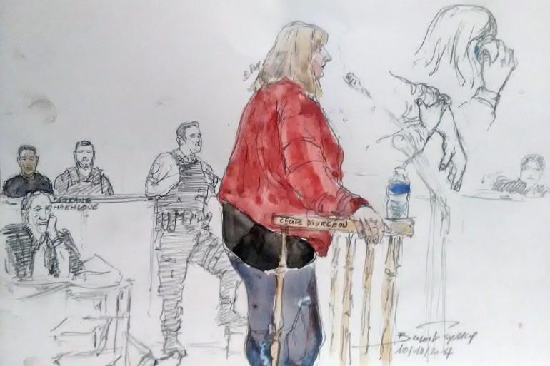 Cécile Bourgeon à la barre en octobre 2017 pour le procès sur la mort de sa fille Fiona (Archives)