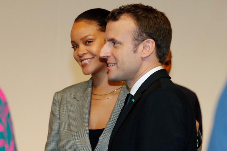 Rihanna et Emmanuel Macron se sont retrouvés vendredi 2 février au Sénégal, à l'occasion du Partenariat mondial pour l'éducation.