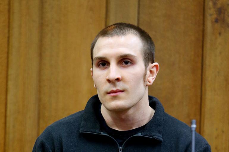 Lewis Peschet à l'ouverture de son procès, pour le meurtre de Sonia, en septembre 2014