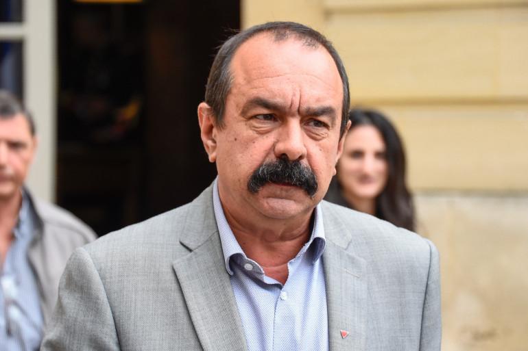 Philippe Martinez, le secrétaire général de la CGT, à Matignon