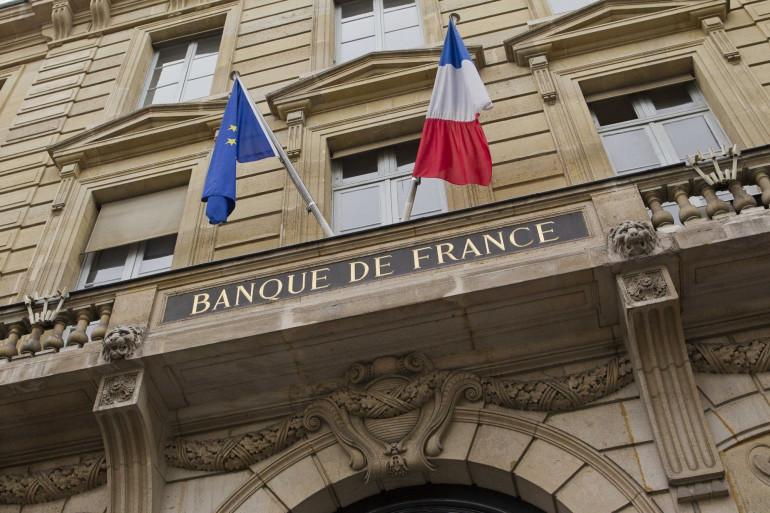 Le fronton de la Banque de France, à Paris.