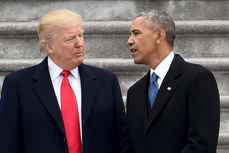 Donald Trump succède à Barack Obama, le 20 janvier 2017.