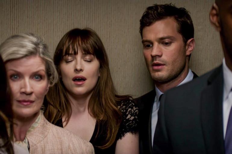 """Les deux héros de """"50 nuances"""" réunis dans un ascenseur"""
