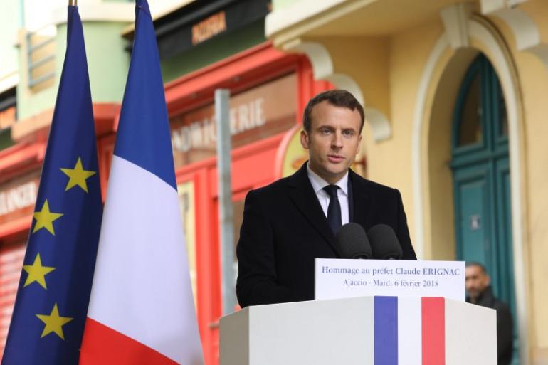 Emmanuel Macron se rend pour la première fois de son quinquennat en Corse, mardi 6 et mercredi 7 février 2018.
