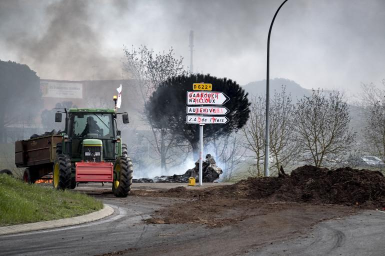 Une manifestations d'agriculteurs à Toulouse, le 7 février 2018