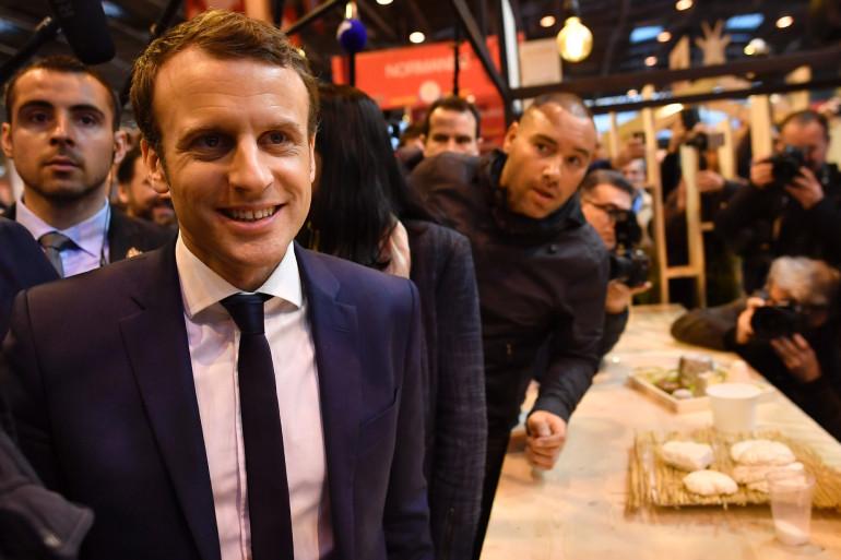 Le candidat Macron en visite au Salon de l'Agriculture 2017