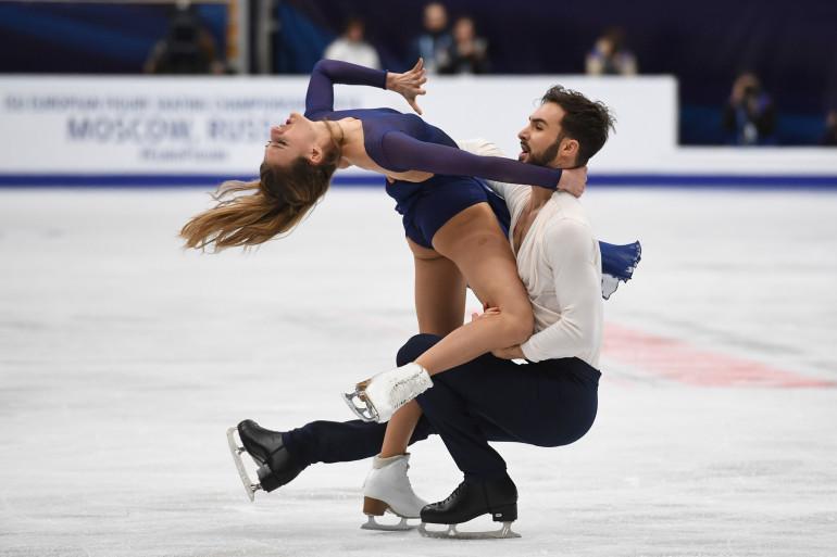 Gabriella Papadakis et Guillaume Cizeron le 20 janvier 2018 à Moscou