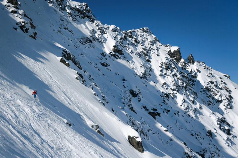 Le secteur de Verbier dans les Alpes suisses où a eu lieu l'avalanche.