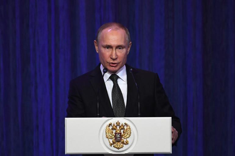 Vladimir Poutine, le 22 février 2018