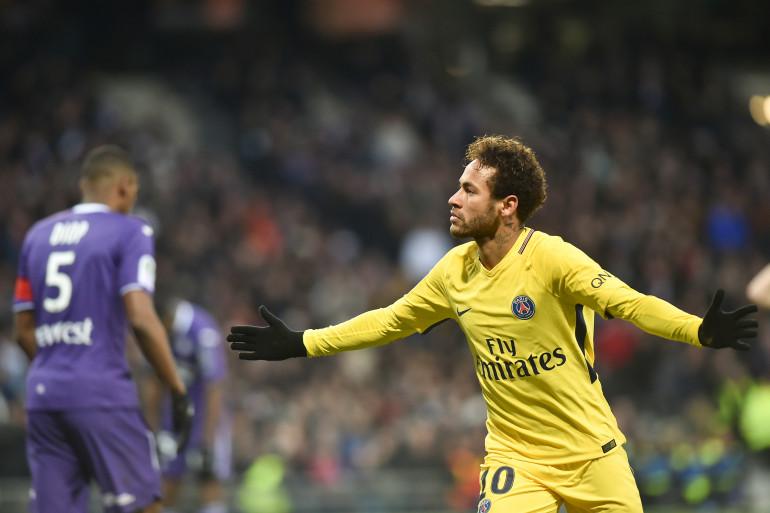 Neymar lors de Toulouse-PSG, le 10 février 2018