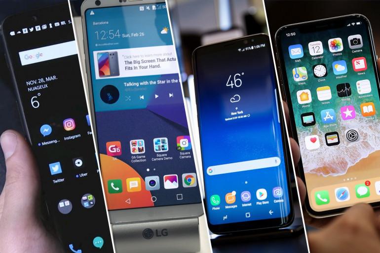 Huawei, LG, Samsung et Apple figurent parmi les principaux vendeurs de smartphones