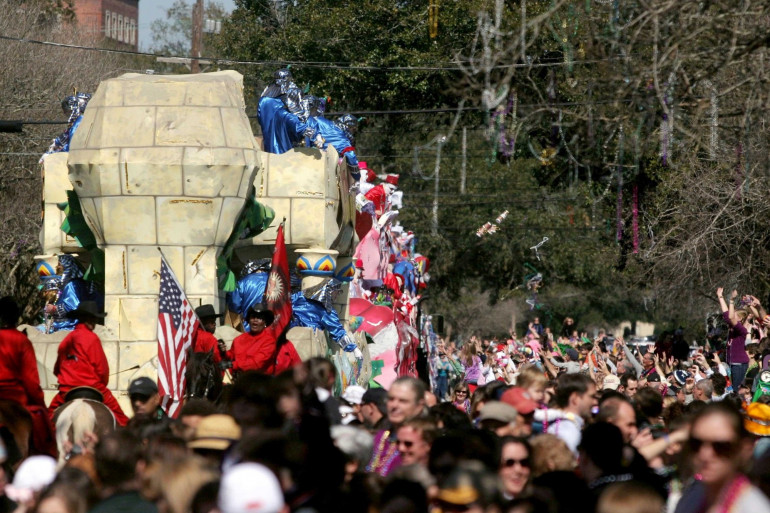 Le carnaval de Mardi-Gras à La Nouvelle-Orléans, en 2010