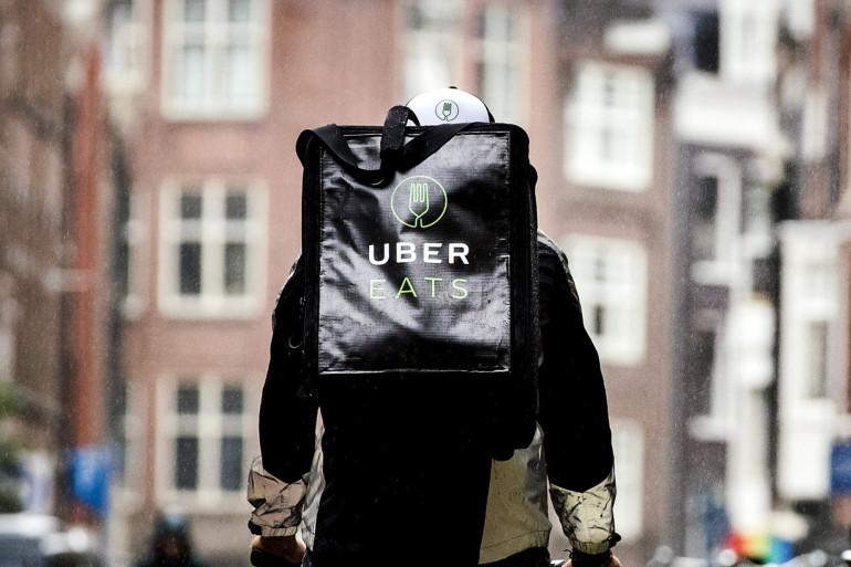 Un livreur Uber Eats (illustration)