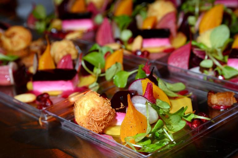 Une assiette végétarienne (Illustration)