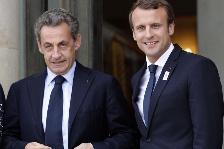 Nicolas Sarkozy et Emmanuel Macron, le 15 septembre 2017 à l'Élysée