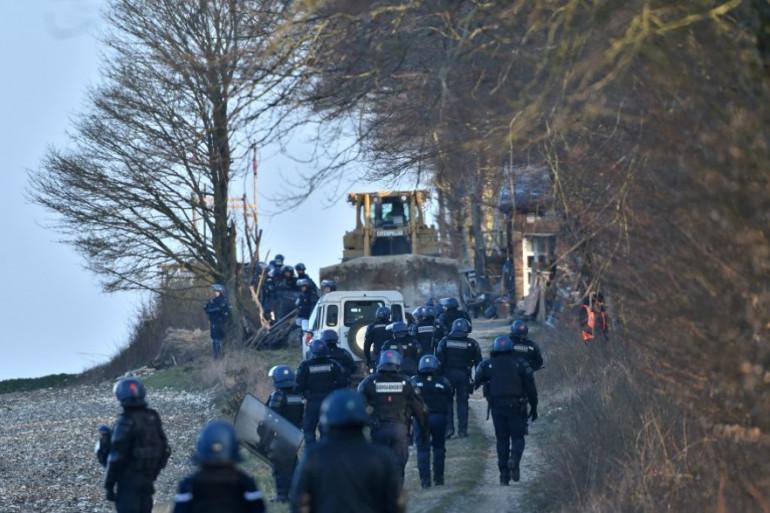 Les gendarmes sont sur le site de Bure dans la Meuse depuis 6 heures le 22 février 2018