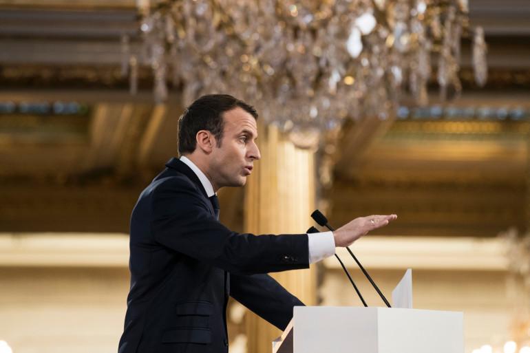 Le président Emmanuel Macron, le 22 février 2018