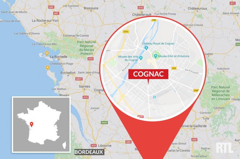 La ville de Cognac, en Charente