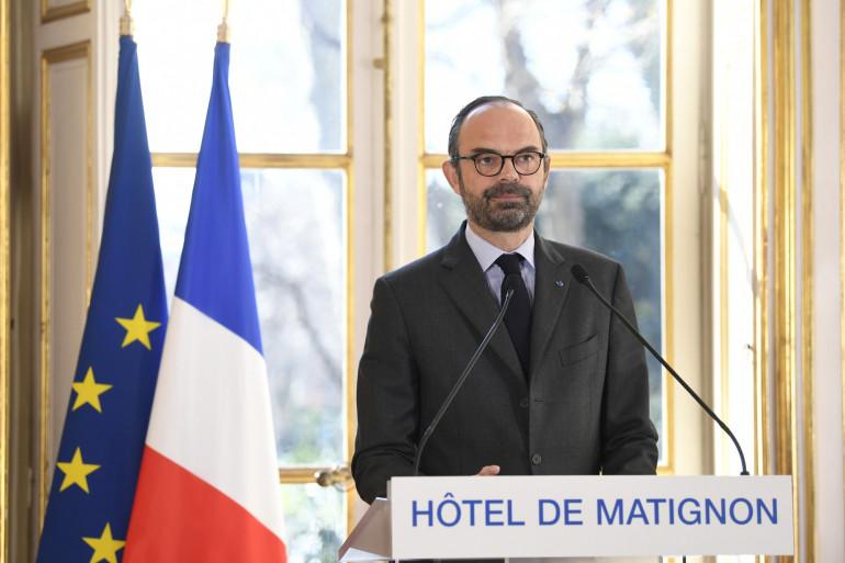Édouard Philippe lors d'une conférence de presse sur la réforme de la SNCF lundi 26 février 2018
