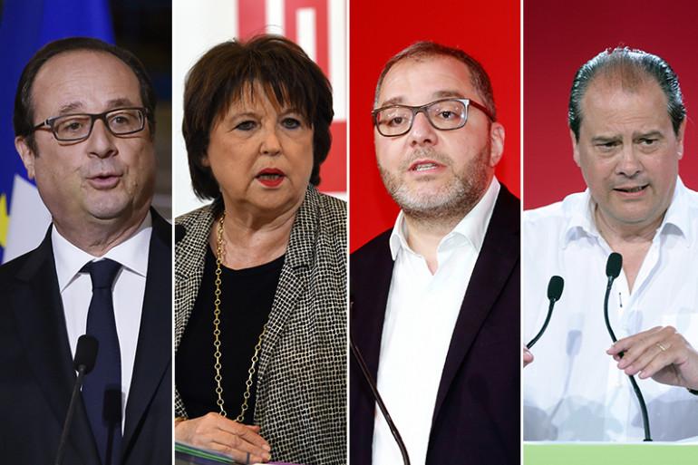 François Hollande, Martine Aubry, Rachid Temal et Jean-Christophe Cambadélis ont occupé le poste de premier secrétaire du Parti socialiste
