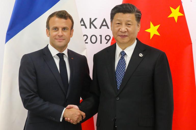 Emmanuel Macron et le président chinois Xi Jinping le 29 juin 2019