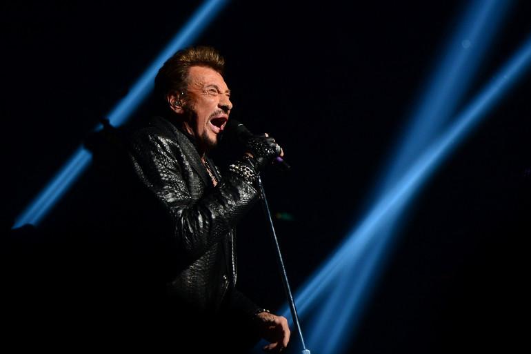 Johnny Hallyday en concert le 7 octobre 2012