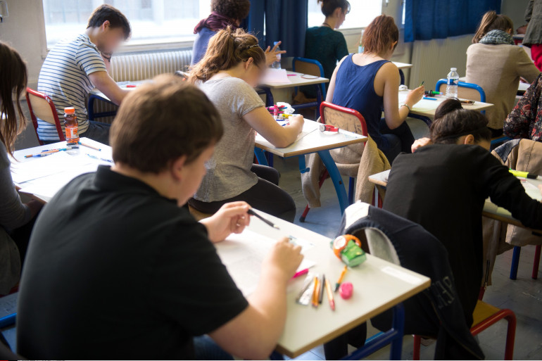 Des lycéens passent leur baccalauréat le 16 juin 2014 à Paris. (illustration)