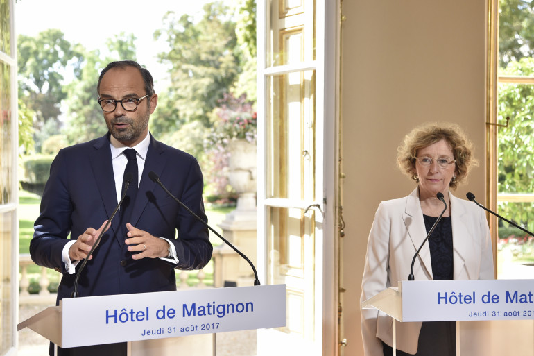Édouard Philippe et Muriel Pénicaud présentent la réforme du Code du travail, le 31 août 2017