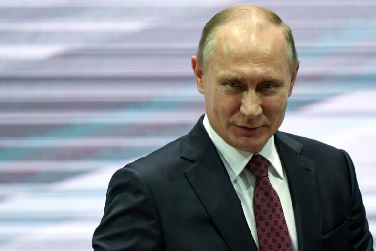 Le Président de la Russie Vladimir Poutine à Moscou le 29 novembre 2017.