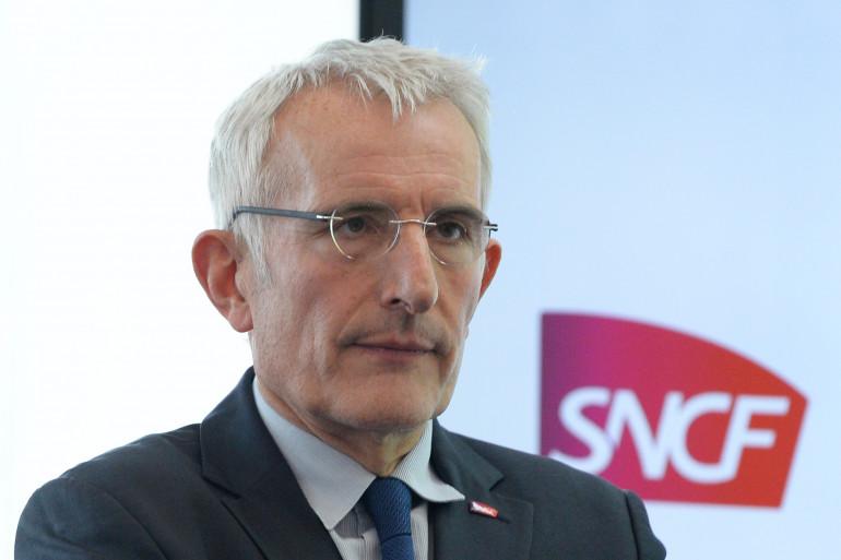 Guillaume Pepy, président de la SNCF, lors d'une conférence de presse en 2016