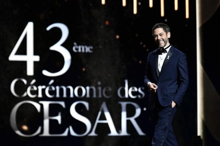 Manu Payet lors de sa scène d'introduction des César 2018