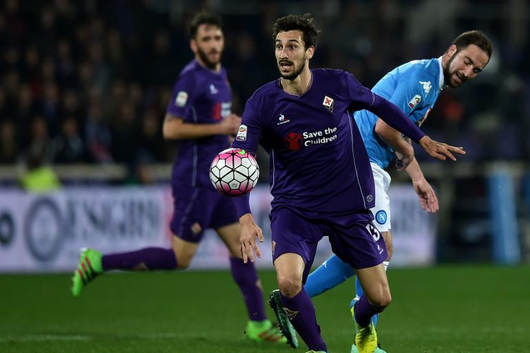 Davide Astori avec la Fiorentina face à Naples le 29 février 2016