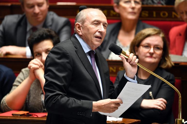 Le ministre de l'Intérieur Gérard Collomb s'exprime devant l'Assemblée nationale