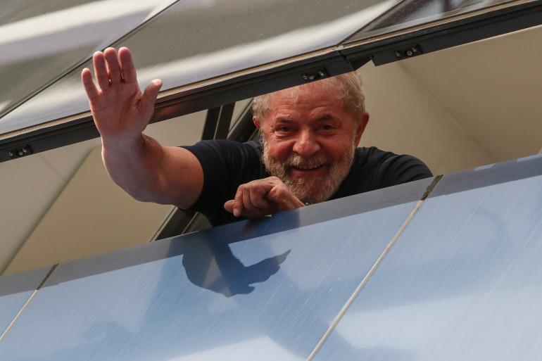 L'ex-président brésilien Lula, le 7 avril 2018.
